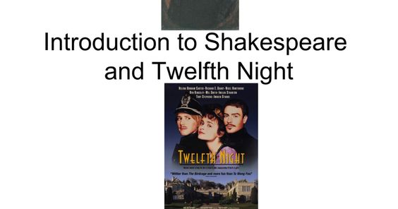 Shakespeare/Twelfth Night Comedy term paper 12655
