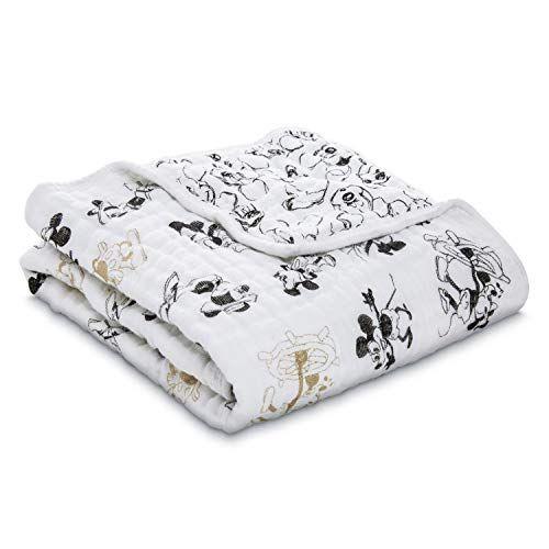 Aden Anais Disney Metallic Stroller Blanket 100 Cotton Muslin 4 Layer Lightweight And Breathable 27 5 X 27 5 Inch M Stroller Blanket Aden Anais Stroller