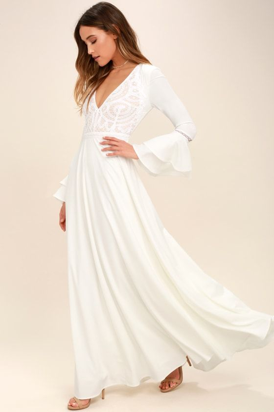 36++ White maxi dress with sleeves ideas