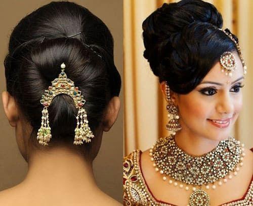 20 Modern Hairstyles To Wear With Lehenga Choli Styles At Life In 2020 Lehenga Hairstyles Hair Styles Latest Hairstyles
