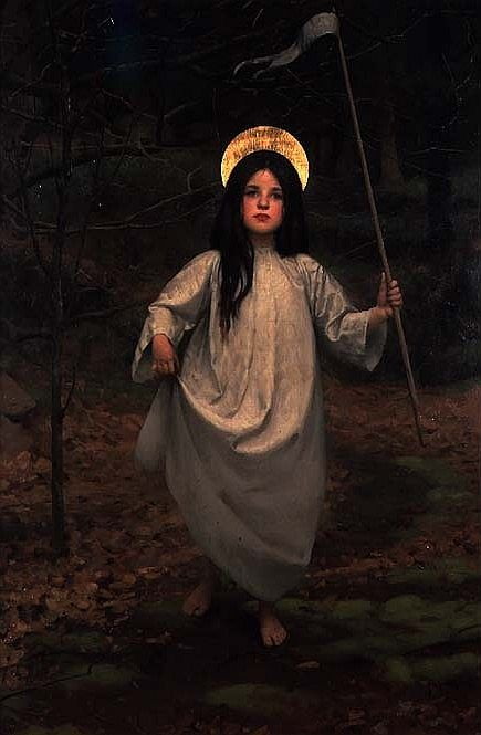 Thomas Cooper Gotch - The Flag (1910):