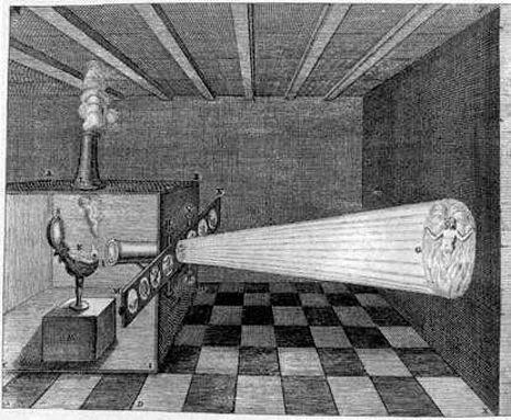 1646 et 1671 : LANTERNE MAGIQUE (ATHANASE KIRCHER)
