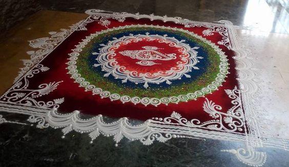 Diwali Rangoli Pinterest: Latest Diwali Rangoli Designs
