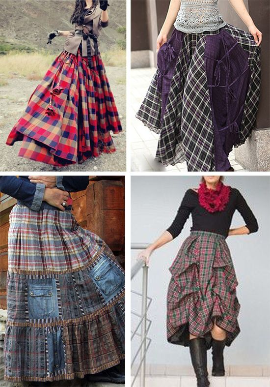 Клетчатые юбки:
