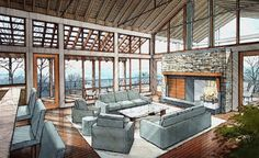 hand rendering interior design - Google Search