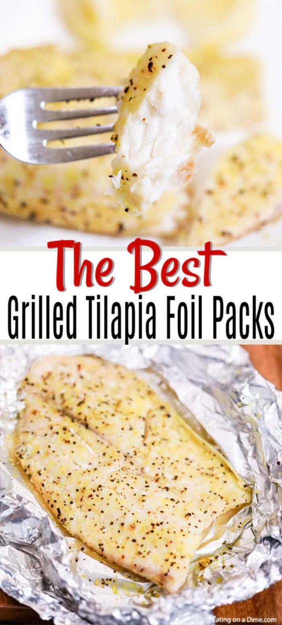 Lemon Pepper Tilapia recipe on the grill