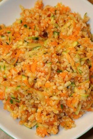 Salade de boulgour aux carottes et aux courgettes