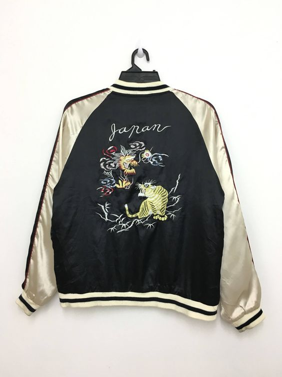 Rare! Vintage SUKAJAN Velvet Tony Hawk Skateboarding Japan Map Embroidery Medium Size