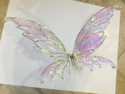 How To Make Diy Fairy Wings With Cellophane An Easy To Follow Tutorial Diy Fairy Wings Diy Wings Diy Fairy