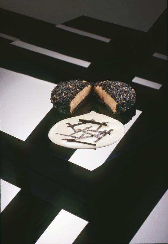 Braised Sweetbreads wrapped in Black Truffle. A recipe from Jean Louis Palladin's Cooking with the Seasons. #fredmaroon #jeanlouispalladin #washdc #recipe #sweetbreads #truffles