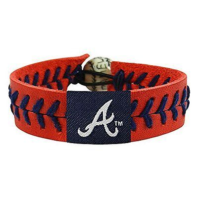 Mlb Atlanta Braves Team Color Baseball Bracelet
