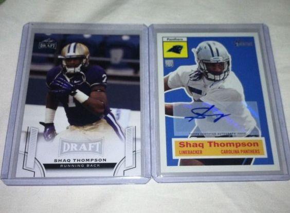 Carolina Panthers LB Shaq Thompson Autograph Rookie Card Lot 2015 Washington NFL…