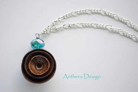 Unique Silver Necklace Acorn Natural Jewelry  by AntheraDesign, $22.99