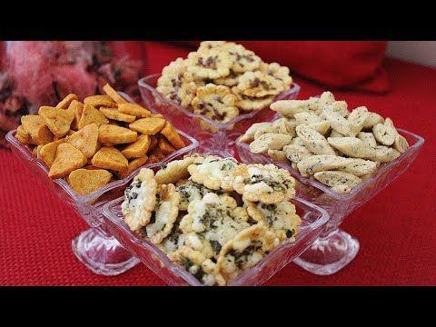 تشكيلة من المملحات من اروع مايكون بعجين واحد واشكال ونكهات مختلفة بطريقة سهلة جدا قريشلات عاشوراء Youtube Food Finger Foods Breakfast