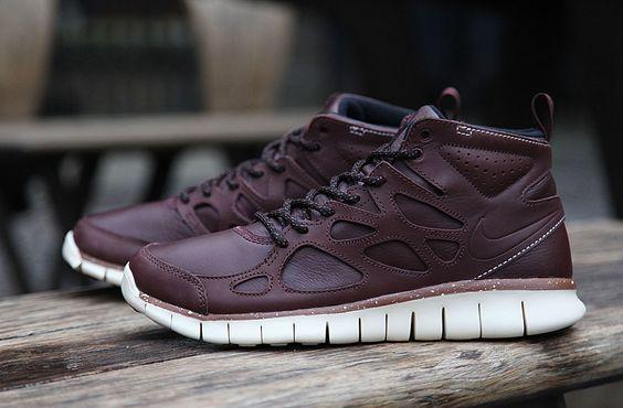 Nike Free Run 2 Chaussure Sneaker En Cuir Marron Qs