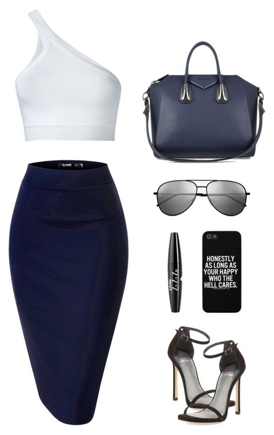 """""""Untitled #1421"""" by i-am-leia ❤ liked on Polyvore featuring Helmut Lang, Givenchy, Yves Saint Laurent, NYX and Stuart Weitzman"""