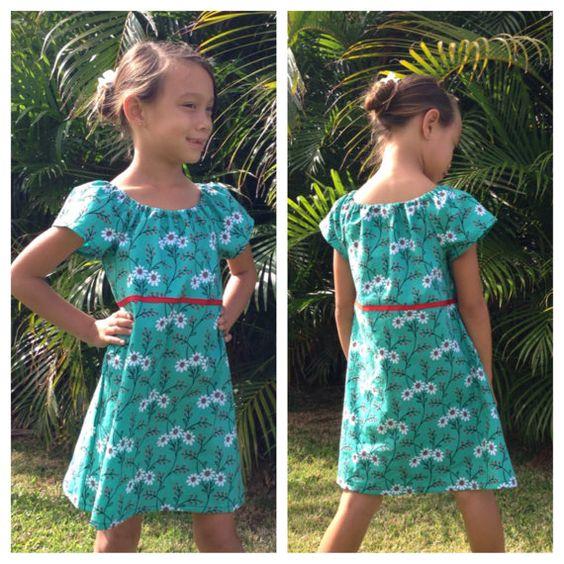 Girl Peasant Dress Wallflower Waltz 6mos to 11/12