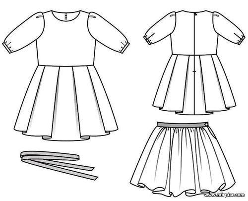 Готовые выкройки женской одежды вечернего платья