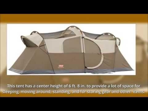 Coleman Weathermaster 10 Person Hinged Door Tent Youtube In 2020 Coleman Tent Hinges