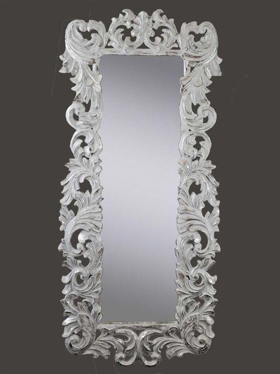 Specchio stile provenzale barocco shabby chic 160x70 - Specchio provenzale ...