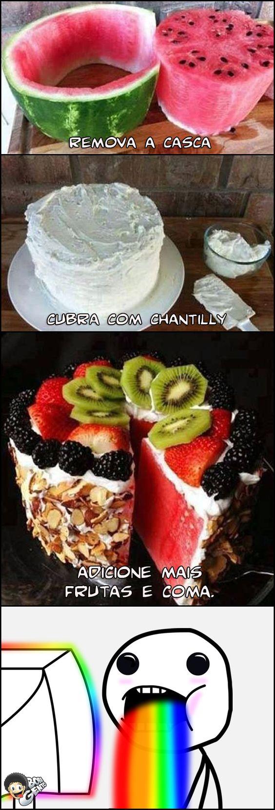 Aprenda a fazer um bolo de melancia