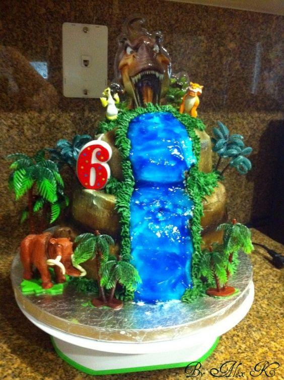 ice age birthday cake  boys birthday ideas  pinterest