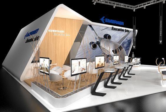 Exhibition Stand Builders Poland : Embrarer executive jets ebace on behance expo