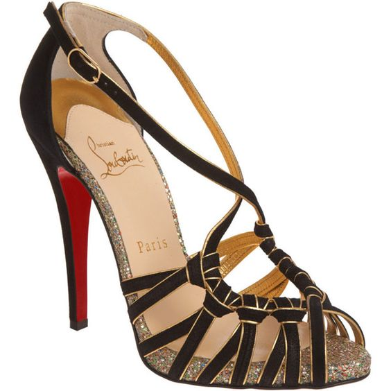 Christian Louboutin - 8 Mignons (575 AUD) ❤ liked on Polyvore featuring shoes, sandals, heels, christian louboutin, sapatos, pumps, apparel & accessories, women, strap sandals and red sandals