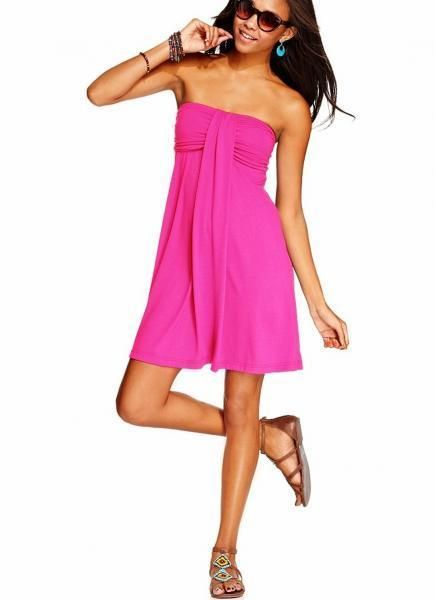 Hula Honey Pink Strapless Bandeau Swimsuit Cover Up Dress XS Extra Small NWT NEW #HulaHoney #CoverUp