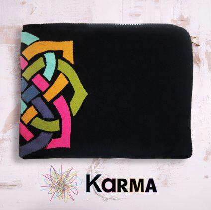 handmade khaymia (hand-sewn) ipad sleeve with abstracted Islamic patterns.  made by Karma from Egypt
