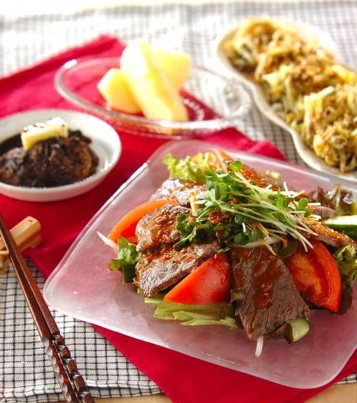 野菜たっぷり焼肉サラダ の献立 レシピ レシピ 献立 レシピ 野菜