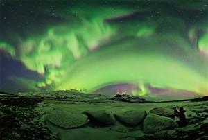 Aurora night, Iceland.