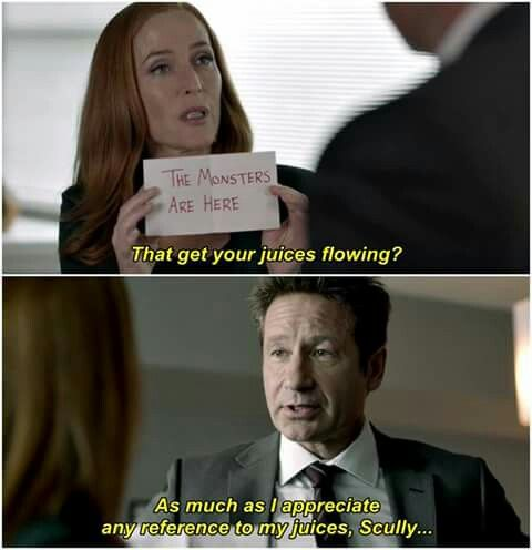 Their Banter Is Some Of The Only Good Stuff That Came Out Of That Ludicrous Final Season X Files Funny X Files Mulder