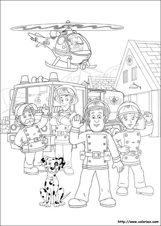 coloriage camion pompier imprimer colorier dessin imprimer