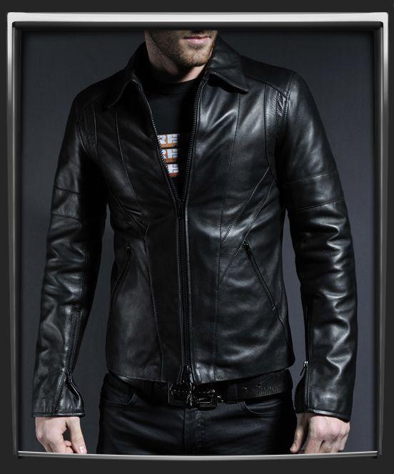 Italian leather jacket brown – Modern fashion jacket photo blog