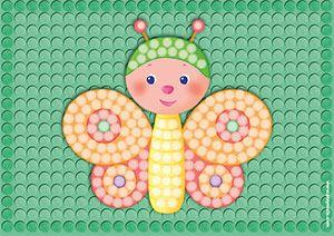 Playmais Schmetterling Mosaic Vorlage Zum Bekleben Vorlagen Basteln Schmetterling