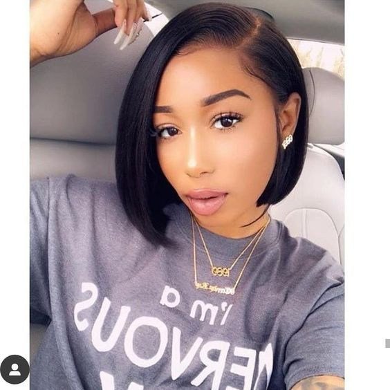 Isee Hair Bob Straight Lace Front Wig 100 Unprocessed Human Virgin Hair Iseehair Thick Hair Styles Short Lace Front Wigs Short Bob Wigs