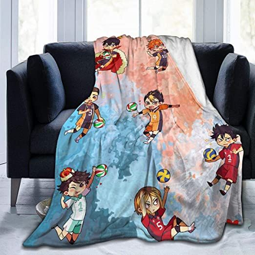 Amy Fisherddd Haikyuu Throw Blanket Suitable Ultra Soft Weighted Bedding Fleece Blanket For Sofa Bed Office Travel Sofa Bed Office Fleece Blanket Throw Blanket