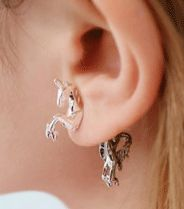 Unicorn Fashion Earrings. What a creative piece!