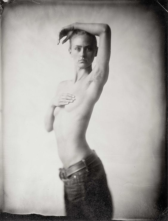 Daisy Breeze.  Whole plate tintype.  Ed Ross