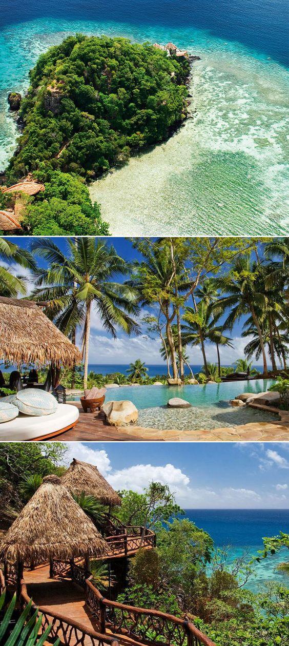 Laucala Island, Fiji. Definitely Tryna go here for my honeymoon lol.