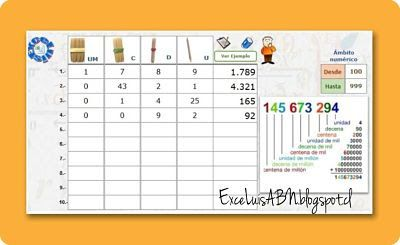 ExceLuisABN Matemática y Excel: Descomposición de números ABN.