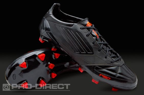 adidas Football Boots - adidas F50 adizero TRX FG Leather - Firm Ground - Soccer Cleats -Black-Black-Infrared