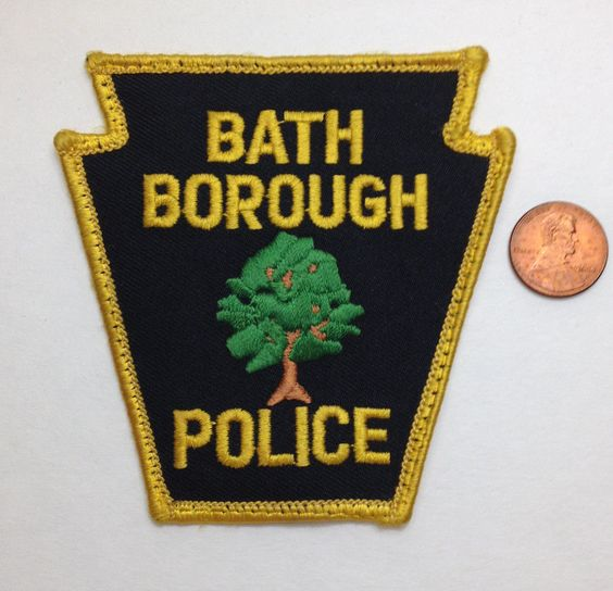 Bath Borough Police Patch Deputy Trooper Officer Agent