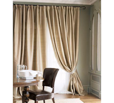 Pottery Barn Ds Curtains, Silk Dupioni Curtains Pottery Barn