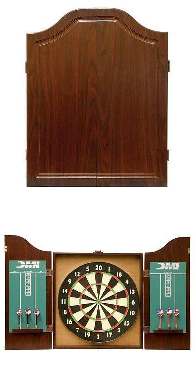 Dart Boards 72576: Dmi Sports Recreational Dartboard Cabinet Set New BUY IT  NOW ONLY: