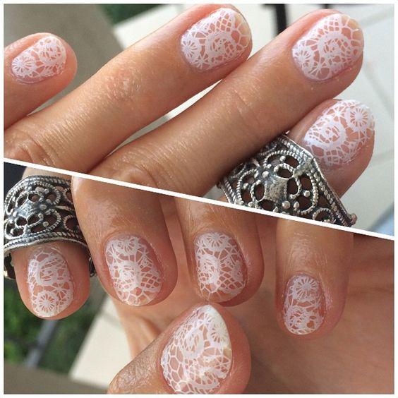 #negativespace #lace stamping on my little e.t fingers with @essence_cosmetics white stamping #nailpolish and @sechenails fast dry top coat. Lace pattern is from @bornprettystore plate QA94. #nail #nails #nailsdone #nailsdid #instabeauty #npa #nailartwow #nailartclub #nailartoohlala #nailstoinspire #craftyfingers #notd #nailsofig #nailsofinstagram #nailie #nailart #nailgame #nailgasm #awesomenailart #Iilovenailpolish #mani #manicure #naildesign #stamping