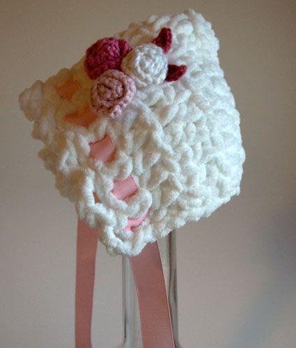 Toot Sweet Newborn Bonnet Free Crochet Pattern from Moogly