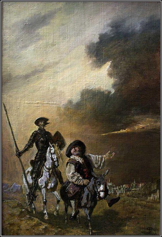Don Quixote and Sancho Pansa [ilyas Phaizulline]