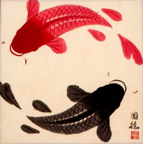 Koi Fish Vinyl Decal Sticker Pet Animal Car Laptop PC Tower Decor